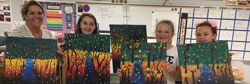Students paintings