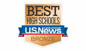 Badge picture that reads best high school US News and World Report